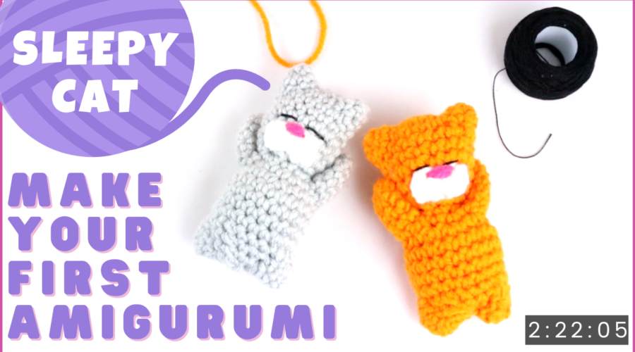Make your first amigurumi cat video for beginners