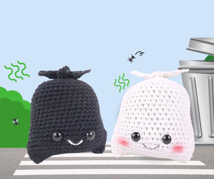 Trash Bag Amigurumi Crochet Pattern